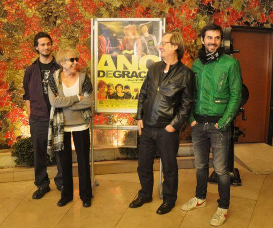 Fotografía de Rocío Pastor Eugenio. Pase de prensa. Oriol Pla, Rosa María Sardá, Ventura Pons y Rosa María Sardá