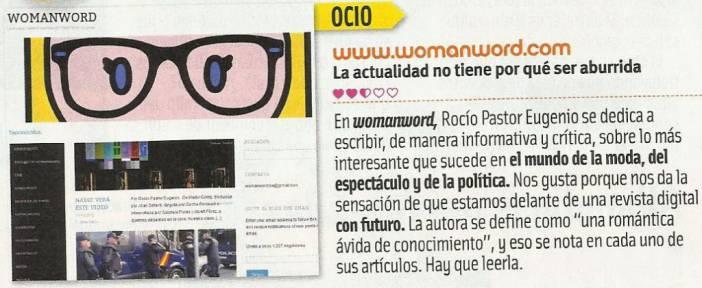 10 de Octubre. La Revista Cuore recomienda seguir WOMANWORD