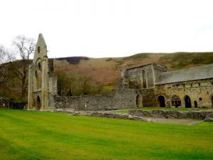 Valle Crusis Abbey and Castell Dinas WOMANWORD in Wales