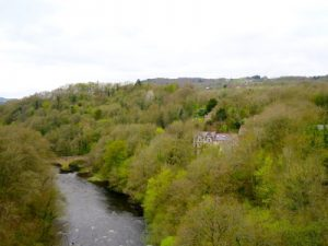 Pontcysyllte Aqueduct Llangollen WOMANWORD in Wales