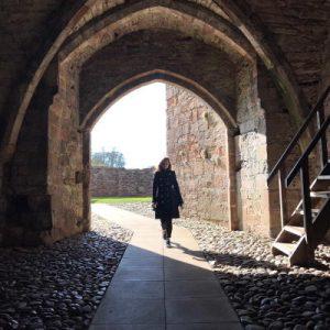 Brougham Castle. WOMANWORD in Wales