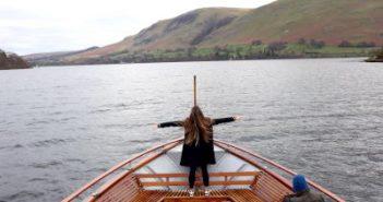 Ullswater. WOMANWORD in Wales