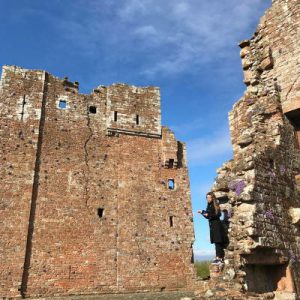 Brougham Castle. WOMANWORD in Wales