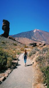 WOMANWORD in Tenerife. Teide.