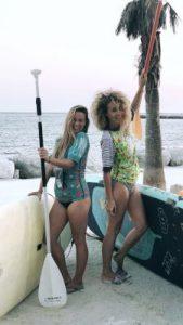 #WOMANWORDinMalaga con La Mar de Bien Company haciendo SUP bajo la luna llena